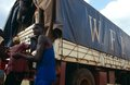 Unloading WFP supplies in Burundi. Royalty Free Stock Images