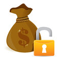 Unlock Full sack Royalty Free Stock Photos