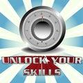 Unlock your skills Royalty Free Stock Photo