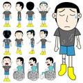 Unlucky man vector on white background cartoon Stock Photos