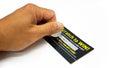 Unlucky Scratch Ticket Royalty Free Stock Photo