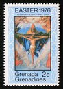 Unused postage stamp Grenada Grenadine 1976, Adoration of the Trinity, painting by Durer Royalty Free Stock Photo