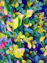 An unmatched ravishing designing pattern of colorful abstract leaves and flowers Royalty Free Stock Photo