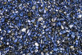 Unnatural world. Blue beach pebbles. Stones and gravel used as d Royalty Free Stock Photo