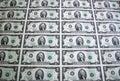 Uno strato di due fatture 4 del dollaro Immagine Stock Libera da Diritti