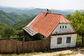 Unoccupied abandoned house in the village rovensko romanian banat Stock Images