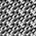 Unordinary brick texture seamless greyscale white to black pattern Stock Image