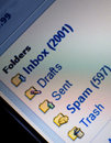 Unread mail and spam Royalty Free Stock Photo