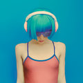 Unreal DJ Girl In Fashionable ...