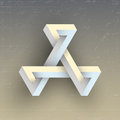 Unreal impossible geometric figure vector element for design Stock Photo