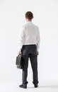 Unrecognizable assured young businessman rear view Stock Images