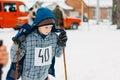Unrecognizable belarusian secondary school pupils preparing for gomel belarus january pupil winter ski competitions ski sniper Stock Images