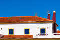 Unrecognizable Part of Residential House at Algarve, Portugal Stock Photo