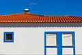 Unrecognizable Part of Residential House at Algarve, Portugal. Stock Photography
