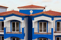 Unrecognizable part of residential house at algarve portugal Stock Images