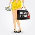 Unrecognizable woman with shopping bag Royalty Free Stock Photo