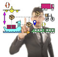 Unsharp businessman with logistic movements illustration Royalty Free Stock Photography