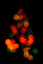 Unsharp christmas tree color image with the lights of a Royalty Free Stock Photography