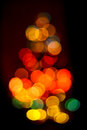 Unsharp christmas tree color image with the lights of a Stock Photos