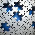 Unsolved Puzzle Stock Images