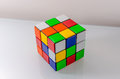 Unsolved rubiks cube problem solving or challenge concept Stock Photo