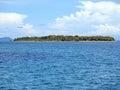 Unspoiled island caribbean with lush vegetation bocas del toro panama Stock Photography