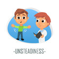 Unsteadiness medical concept. Vector illustration.