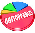 Unstoppable Pie Chart Constant Growth Increased Share Royalty Free Stock Photo