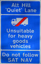 Unsuitable for heavy goods vehicles Stock Image