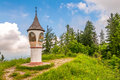 Unternberg summit monument at hill Stock Image