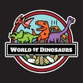 Dinosaurs icon isolated. cartoon characters design.