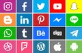 Collection of social network icons