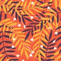 Colorful floral seamless pattern. Hand Drawn vector illustration