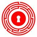 Escape room vector icon Royalty Free Stock Photo