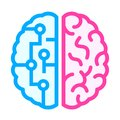 Left and right brain icon Royalty Free Stock Photo