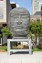 Untitled sculpture by Jun Kaneko, Toronto, Canada Royalty Free Stock Photo