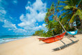 Untouched tropical beach Royalty Free Stock Images