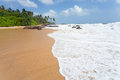 Untouched tropical beach of sri lanka Royalty Free Stock Photography