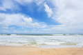 Untouched tropical beach of sri lanka Stock Photos