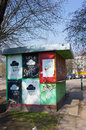 Unused small kiosk old on a sunny day Royalty Free Stock Photo