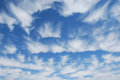 Unusual cirrus cloud formation over Las Vegas, Nevada. Royalty Free Stock Photo
