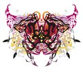 Unusual colorful butterfly splashes in grunge style Royalty Free Stock Photo