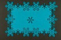 Unusual design christmas background with blue snowflakes Royalty Free Stock Photo