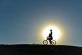 Unusual kids on bikes Royalty Free Stock Photo