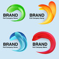 Unusual modern logo design clip art Stock Image