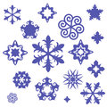 Unusual snowflakes Stock Photos