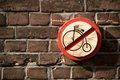No throughway for penny-farthing Royalty Free Stock Photo