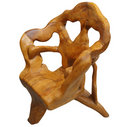 Unusual Wooden Chair Stock Image
