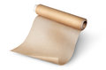 Unwound roll of parchment paper for baking Royalty Free Stock Photo