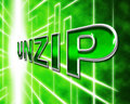 Unzip file means files zipper and folders representing folder correspondence Stock Images